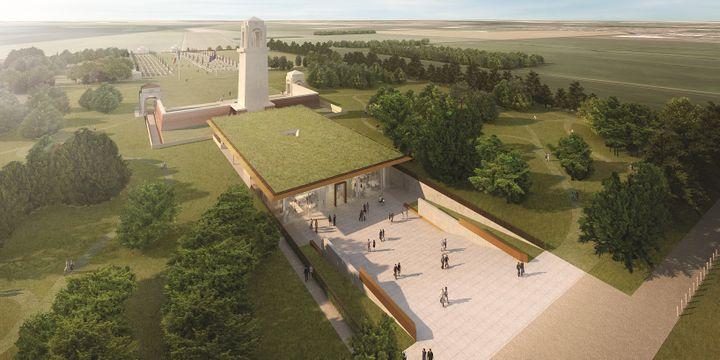 Le Centre d'interprétation Sir John Monash construit à Villers-Bretonneux dans la Somme sera inauguré le 24 avril, veille de l'Anzac Day.  (Centre Sir John Monash)