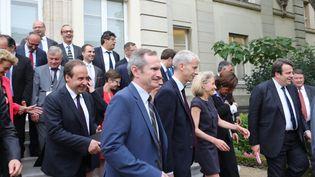 """Le groupe des """"constructifs"""" à l'Assembléenationale est coprésidé par Franck Riester (LR) et Stéphane Demilly (UDI) (MAXPPP)"""