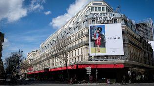 Les Galeries Lafayette à Paris, le 15 mars 2020. (ELKO HIRSCH / HANS LUCAS / AFP)