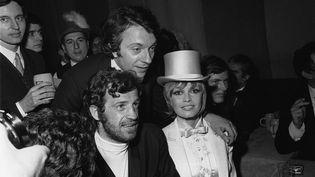 Jean-Paul Belmondo et Brigitte Bardot au Gala de l'Union des artistes, au Cirque d'hiver, à Paris en 1970. (AFP)