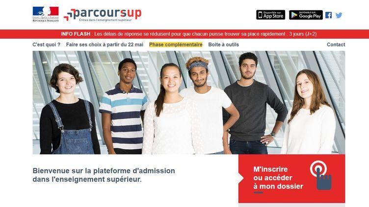 Mi-juillet, 89 000 jeunes sont encore en attente d'une propositionsur Parcoursup. (PARCOURSUP / FRANCEINFO)