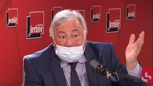 Gérard Larcher, président du Sénat, sénateur des Yvelines, est l'invité du Grand entretien de France Inter, le 3 décembre 2020. (FRANCEINTER / RADIOFRANCE)