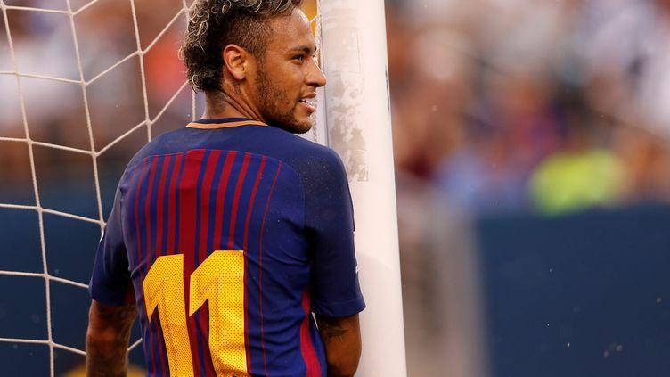 L'attaquant brésilien Neymar Jr. lors d'un match amical opposant Barcelone à la Juventus, le 22 juillet 2017 aux Etats-Unis. (MIKE SEGAR / REUTERS)