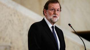 Le Premier ministre espagnol Mariano Rajoy, le 15 mai 2018 à Sofia (Bulgarie). (HRISTO RUSEV / NURPHOTO / AFP)