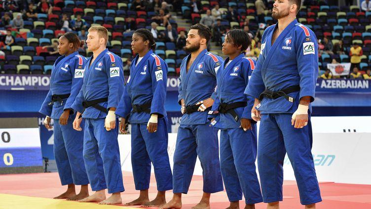 L'équipe de France mixte de judo a obtenu l'argent aux Championnats du monde.  (MLADEN ANTONOV / AFP)