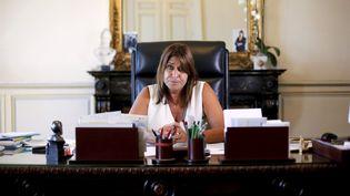 La maire de Marseille, Michèle Rubirola, à la mairie, le 24 août 2020. (MAXPPP)