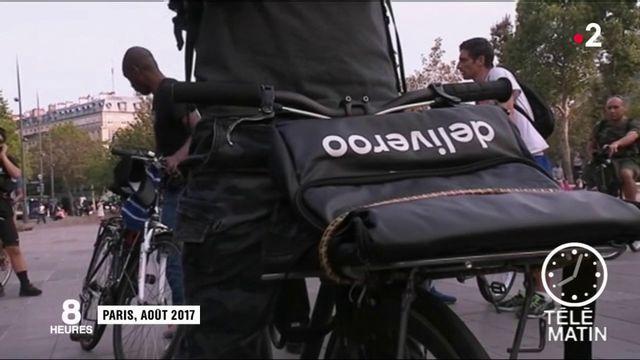 Les coursiers à vélo en grève pour dénoncer leurs conditions de travail