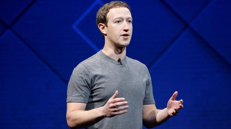 Le patron de Facebook, Mark Zuckerberg, lors d'une conférence à San José (Californie), le 18 avril 2017. (STEPHEN LAM / REUTERS)