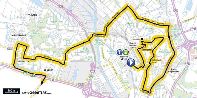 Le départ de la 2e étape du Tour de France 2015