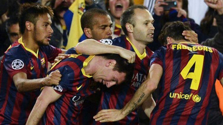 La joie des joueurs barcelonais