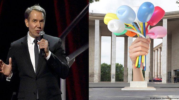 "Jeff Koons et ""Bouquet of Tulips""  (Jeff Koons Courtesy Noirmontartproduction)"