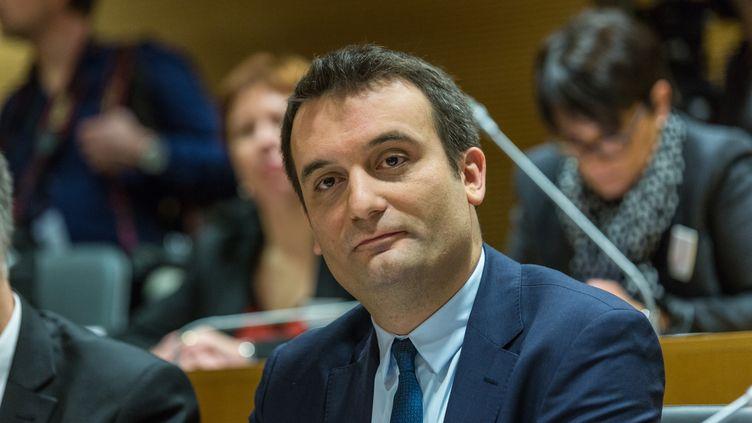 Florian Philippot, vice-présidentdu FNle 4 janvier 2016 àStrasbourg.  (CITIZENSIDE / CLAUDE  TRUONG-NGOC / AFP)