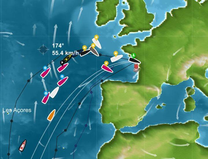 Le bateau de Matthew Johnston remportel'édition en ligne du Vendée Globe sur le site Virtual Regatta, le 17 janvier 2017. (VIRTUAL REGATTA)