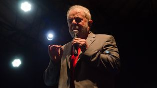 L'ex-président Lula à Rio de Janeiro (Brésil), le 2 avril 2018. (VANESSA ATALIBA / BRAZIL PHOTO PRESS / AFP)