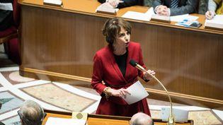Marisol Touraine, ministre des Affaires sociales et de la Santé, le 10 janvier 2017 lors de la séance dequestions au gouvernement à l'Assemblée nationale. (MAXPPP)