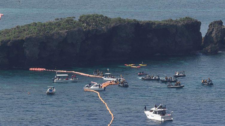 Les côtes de Nago, au large d'Okinawa, où devait s'installer la base américaine, le 29 octobre 2015.  (Masanori Inagaki / Yomiuri / The Yomiuri Shimbun)
