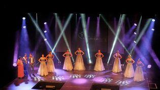 Les candidates pour devenir Miss Nouvelle-Calédonie à Nouméa, le 21 août 2021. (CLOTILDE RICHALET / HANS LUCAS / AFP)