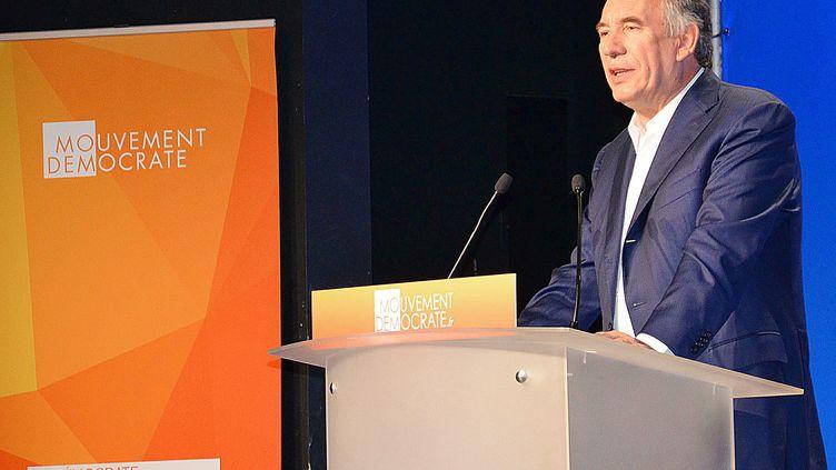 François Bayrou, alors président du MoDem, le 29 août 2015 à Guidel (Morbihan). (C.MARION / MAXPPP)