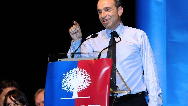 Le secrétaire général de l'UMP, Jean-François Copé, le 24 octobre 2012 à Toulouse (Haute-Garonne). (REMY GABALDA / AFP)