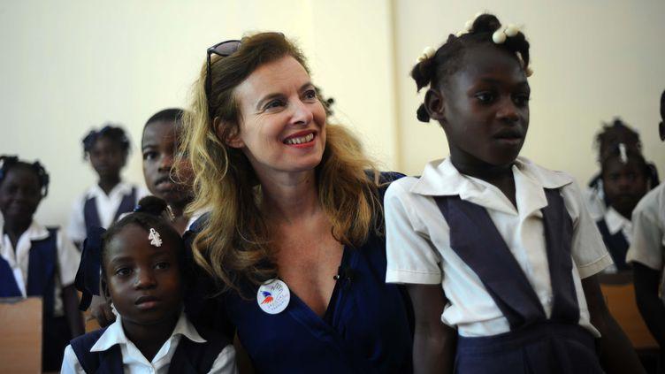 Valérie Trierweiler à Port-au-Prince (Haïti), le 6 mai 2014. (HECTOR RETAMAL / AFP)