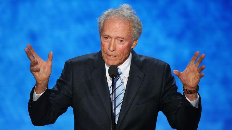 L'acteur et réalisateur Clint Eastwood s'exprime à la convention républicaine, à Tampa (Floride, Etats-Unis), le 30 août 2012. (MARK WILSON / GETTY IMAGES NORTH AMERICA)