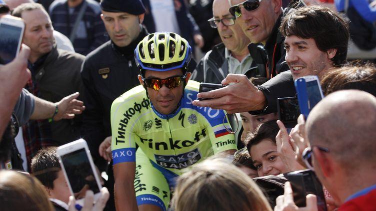 Alberto Contador sera l'un des favoris du Giro 2015  (QUIQUE GARCIA / AFP)