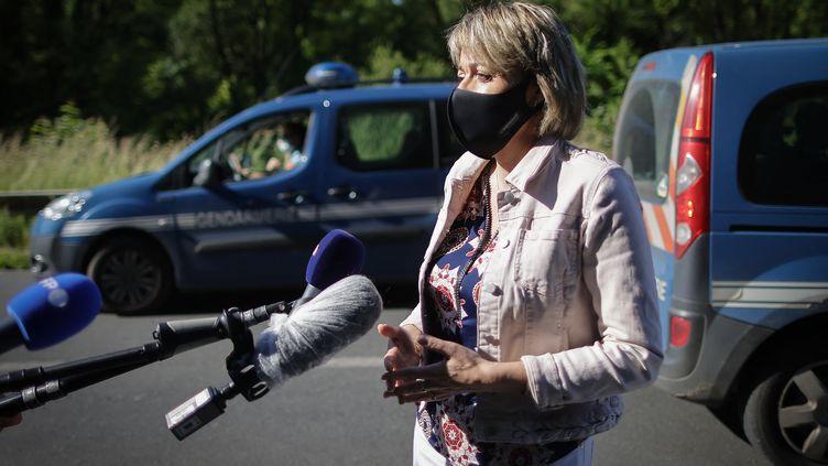 La maire du Lardin-Saint-Lazare,Francine Bourra, le 30 mai 2021. (THIBAUD MORITZ / AFP)