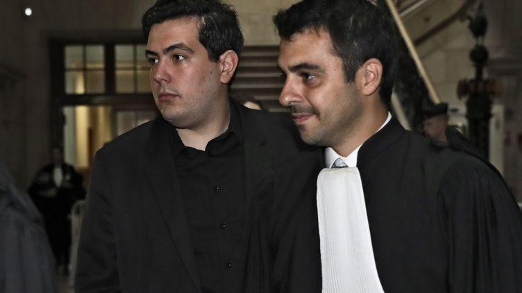 Le principal accusé du procès de la mort de Clément Meric, Esteban Morillo, le 4 septembre 2018 à Paris. (THOMAS SAMSON / AFP)