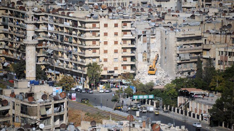 Vue sur Alep (Syrie), 27 septembre 2019. (MAXIME POPOV / AFP)