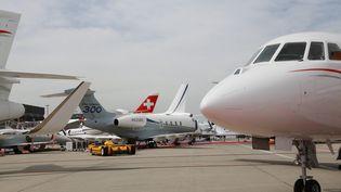 Des avions sur le tarmac de l'aéroport de Genève (Suisse). (MAXPPP)