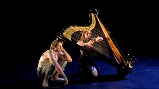 """""""Artpiste"""" duo pour harpiste et fildefériste au festival des Cirques indisciplinés d'Arles  (France 3 / Culturebox)"""
