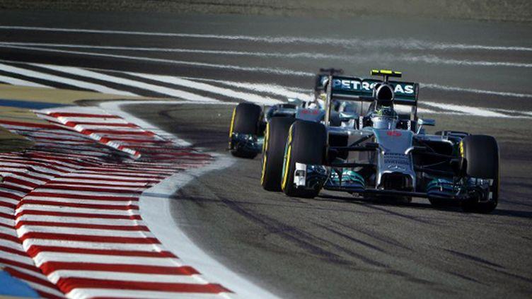 Lewis Hamilton et Nico Rosberg seront chassés sur les terres d'Alonso. (ERIC VARGIOLU / E.V.A.)