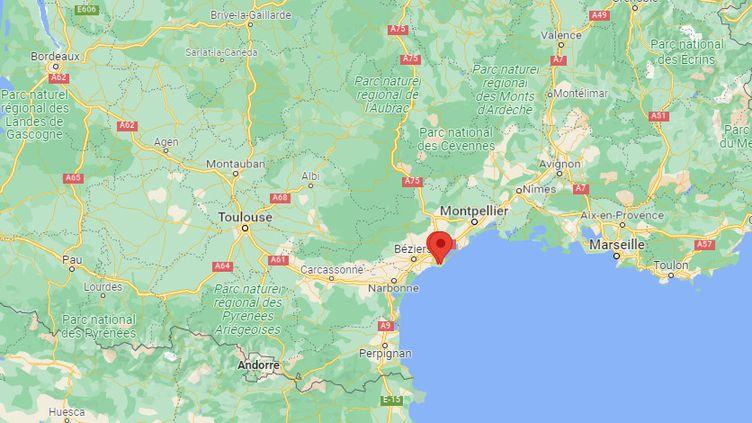 Une septuagénaire a été retrouvée décapitée à son domicile, à Agde (Hérault), mercredi 13 octobre 2021. (FRANCEINFO / GOOGLE MAPS)