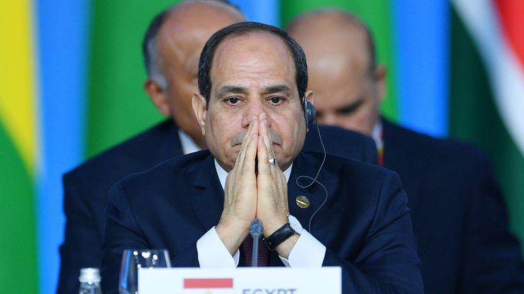 Le président égyptien Abdel Fattah al-Sissi au Forum économique du sommet Russie-Afrique de Sotchi, le 24 octobre 2019. (RAMIL SITDIKOV / SPUTNIK)