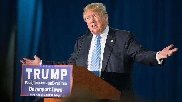Donald Trump lors d'un meeting à Davenport (Iowa, Etats-Unis), le 5 décembre 2015. (SCOTT OLSON / GETTY IMAGES NORTH AMERICA / AFP)