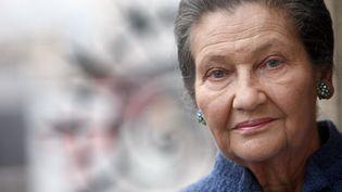 Simone Veil en octobre 2007. Des voix s'élèvent pour qu'elle incarne Marianne dans les mairies françaises. (FRANCK FIFE / AFP)