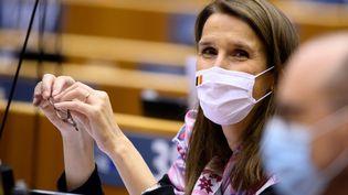 Sophie Wilmès, la ministre des Affaires étrangères belge, à Bruxelles, le 2 octobre 2020. (CHRISTOPHE LICOPPE / BELGA / AFP)