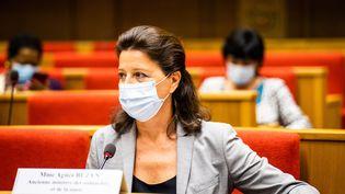 Agnès Buzyn lors de son audition devant la commissiond'enquête pour l'évaluation des politiques publiques, le 23 septembre 2020 à Paris. (XOSE BOUZAS / HANS LUCAS / AFP)