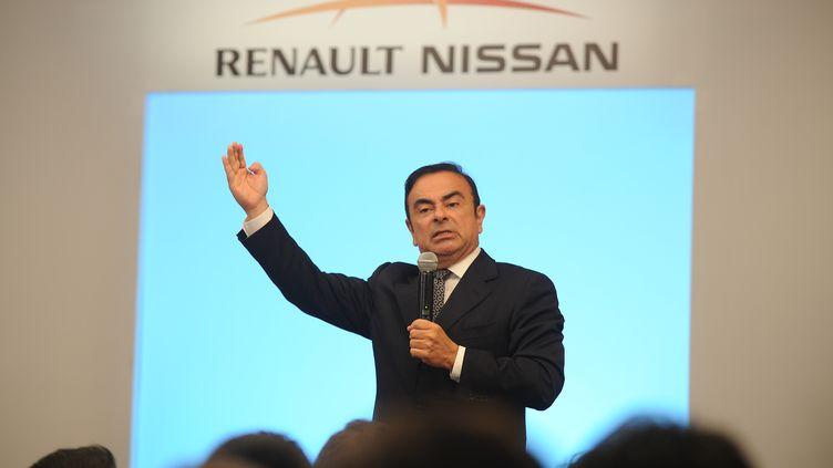 Le PDG de Renault-Nissan, Carlos Ghosn, le 16 juillet 2013 à Madras (Inde). (MANJUNATH KIRAN / AFP)