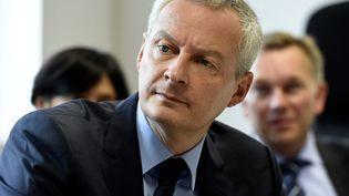 Le candidat à la primaire à droite Bruno Le Maire, le 27 octobre 2016 à Armentières (Nord). (MAXPPP)