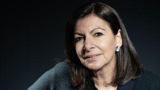 La maire de Paris, candidate à sa succession, Anne Hidalgo, le 11 février 2020dans la capitale. (BERTRAND GUAY / AFP)