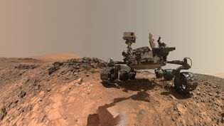Le véhicule de la NASA, Curiosity, sur la planète Mars, le 7 juin 2018. (HANDOUT / NASA)