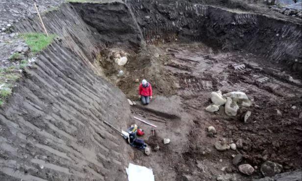 Pierre-Jérôme Rey sur le site du chantier, a dirigé l'exhumation. (DR)