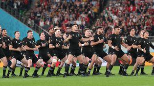 Les All Blacks lors de la finale de la Coupe du monde de rugby 2019 à Tokyo (MASAHIRO SUGIMOTO / YOMIURI)