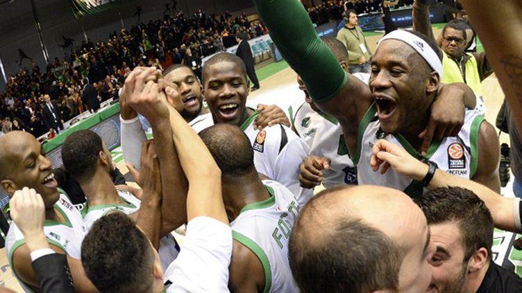 La joie de la JSF Nanterre (FRANCK FIFE / AFP)
