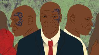 Les mille et une vies de Mike Tyson (visuel d'illustration). (JESSICA KOMGUEN / FRANCEINFO)
