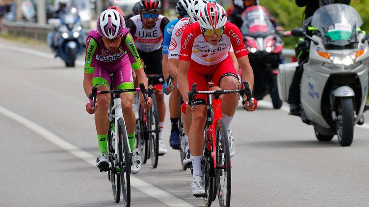 Victor Lafay sur le Giro 2021. (LUCA BETTINI / AFP)
