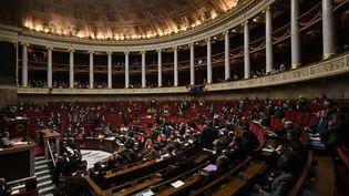 L'Assemblée nationale en séance le 19 novembre 2019 à Paris. (PHILIPPE LOPEZ / AFP)