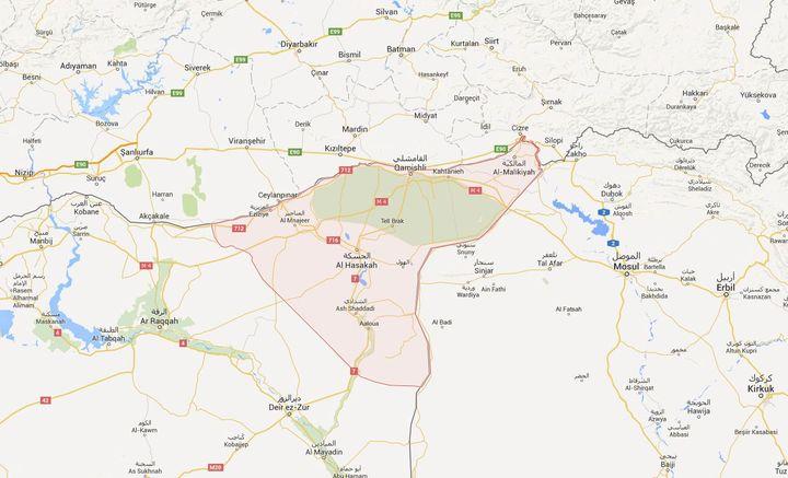 La plupart des Assyriens de Syrievivent dans la province de Hassaké. (GOOGLE MAPS)