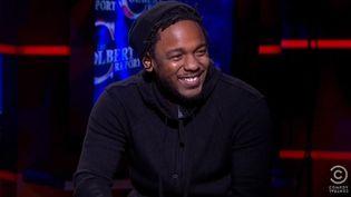 Kendrick Lamar au Colbert Report le 16 décembre 2014.  (saisie écran)